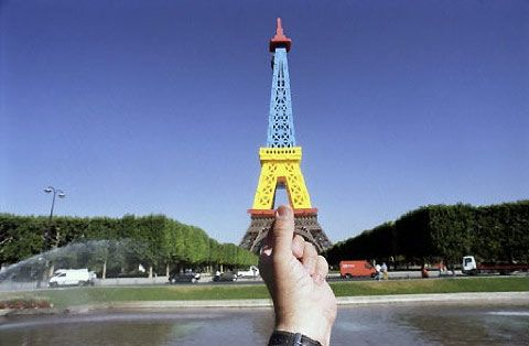 Souvenirs replacing landmarks by Michael Hughes