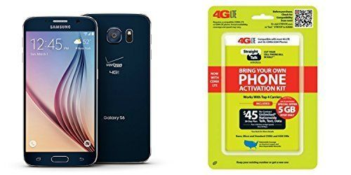 """Straight Talk Samsung Galaxy S6 32GB Phone is Pre-Registered with Straight Talk 4G LTE Sim Card installed. 1 Year Warranty No-Contract $45.00 Unlimited Talk+ Text + 5GB of ultra fast 4G XLTE Data on Verizon""""Service Card Not Included"""". Easy to Follow instructions for activation  http://darrenblogs.com/us/2018/01/23/straight-talk-samsung-galaxy-s6-saphire-black-32gb-runs-on-verizons-4g-xlte-via-straight-talks-45-00-5gb-unlimited-talk-text-service-card-not-included/"""