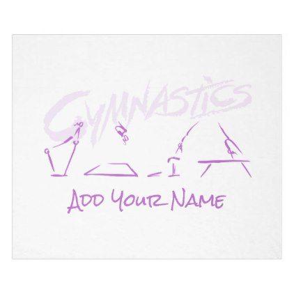 Gymnastics All Around Medium Blanket - home gifts ideas decor special unique custom individual customized individualized