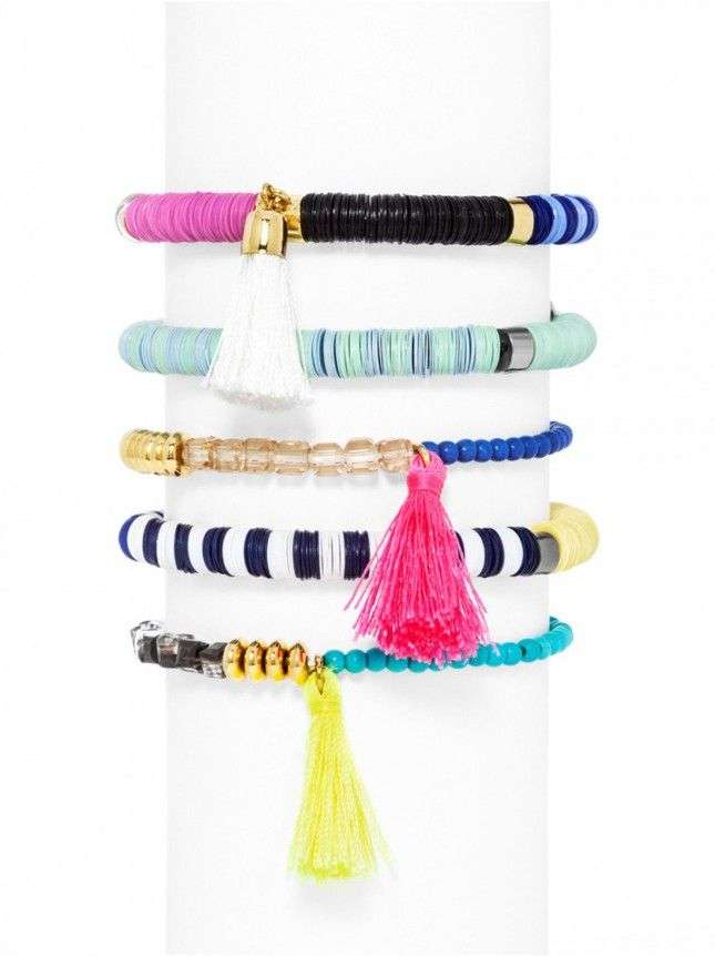 Tassel bracelets are a must-have for summer.