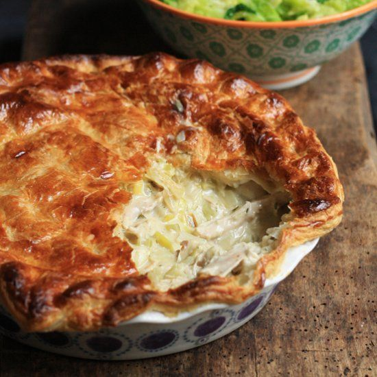 Deliciousy Creamy Chicken And Leek Pie Leek Recipe