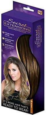 Secret Hair Extensions by Daisy Fuentes As Seen On TV Light Brown Hair