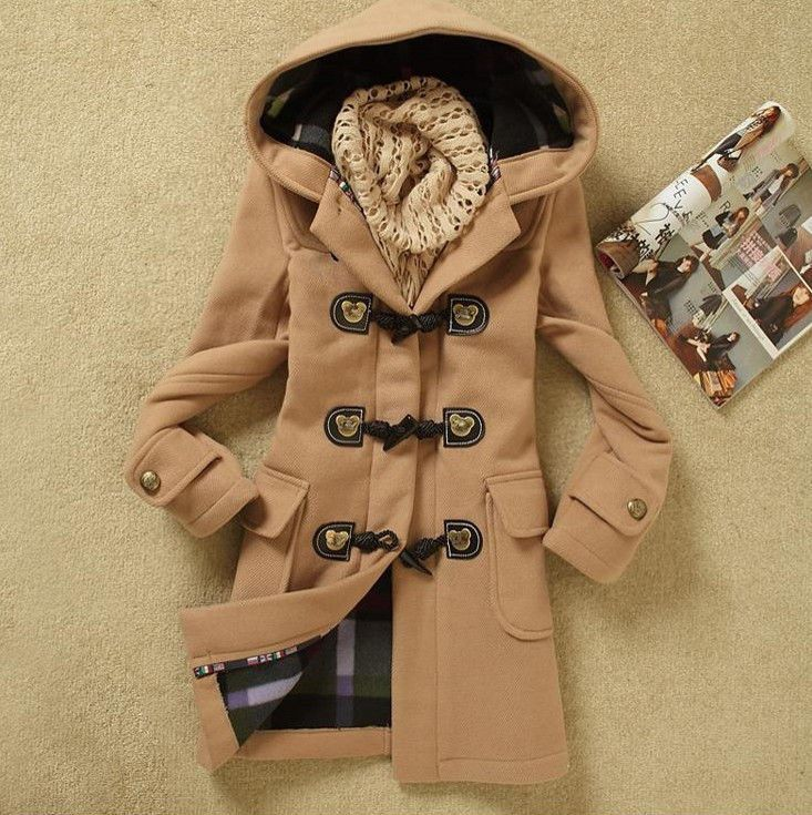 Fashion Womens Winter Coats Trench Coat Wool Jackets Toggle Duffel Parka Anorak #NEW #TrenchCoat