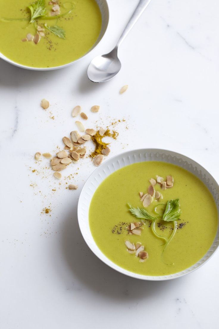 Vegan Cream of Celery Soup with Curry Powder | Vegetarian Times