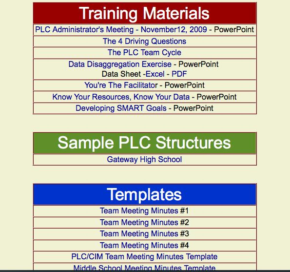 11 best Professional Learning Communities (PLC) images on - sample school agenda