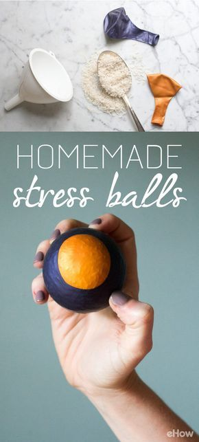 Stress balls are typically palm-sized and used to relieve tension, focus energy and even act as a form of exercise for the muscles in your hands and fingers. Make them in variations of bright colors for extra fun! http://www.ehow.com/how_4794857_homemade-stress-ball.html?utm_source=pinterest.com&utm_medium=referral&utm_content=curated&utm_campaign=fanpage