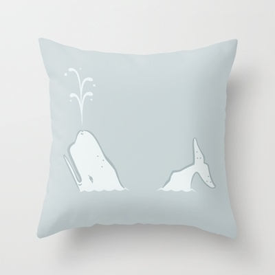 Whale Throw Pillow by leducland - $20.00