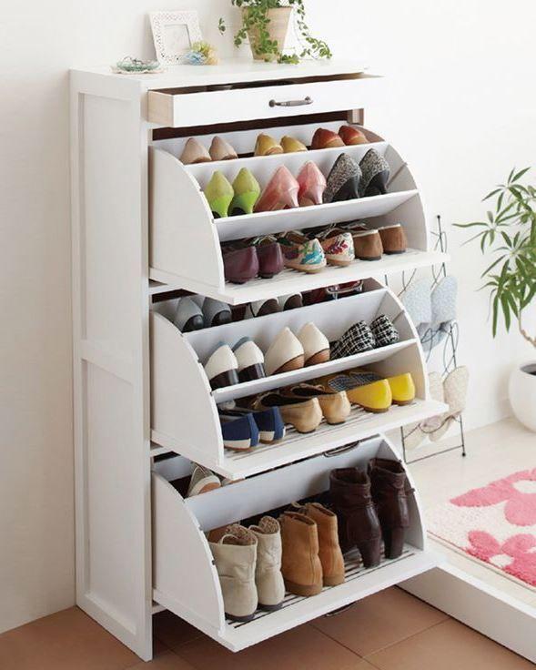 Shoe Storage Cabinet Wood