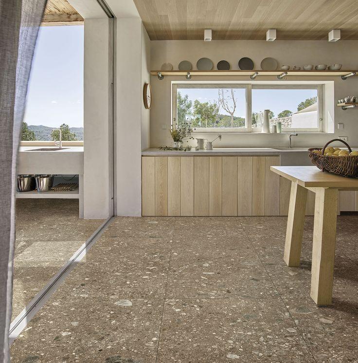 Mystone Ceppo di Gré ceramic tiles #Marazzi #tiles #floortiles #stonelook #stoneeffect #kitchen #kitchendesign
