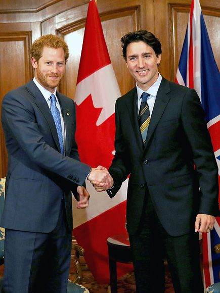 Swoon-Worthy Summit! Prince Harry Meets Canadian Prime Minister Justin Trudeau http://www.people.com/people/package/article/0,,20395222_21003773,00.html