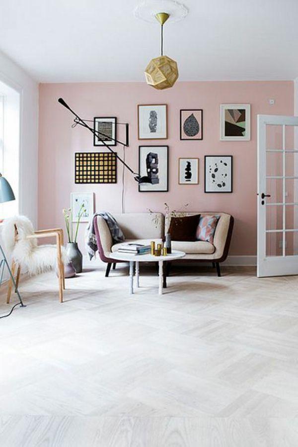 Wohnzimmer design wandfarbe  Die besten 25+ Rosa wohnzimmer Ideen auf Pinterest | Graues couch ...
