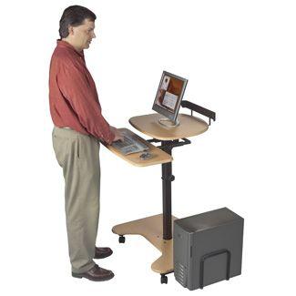 Adjustable Height Computer Desk - Mobile Computer Desk . #laptop #tech #workstation #$417.00