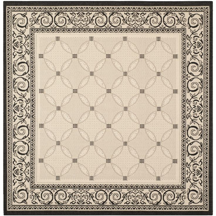 Safavieh Courtyard Collection Sand And Black Square Area Rug 7 Feet 10 Inches By X