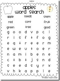 Apple Word Search FREEBIE!Apples Mania, Fall Ideas, Apple Word Search, Search Freebies, Apples Weeks, Kindergarten Ideas, Words Search, Apples United, Apples Theme