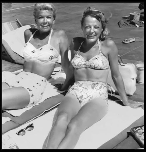4/3/14 8:52a Doris Day and June Allyson. All Dressed down in Swimsuits