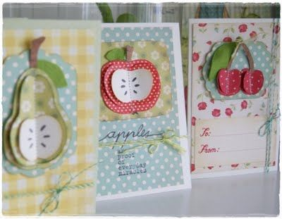 fruit cards. http://veridianafromm.blogspot.com/2011/06/greengate-farben-fruit-cards.html