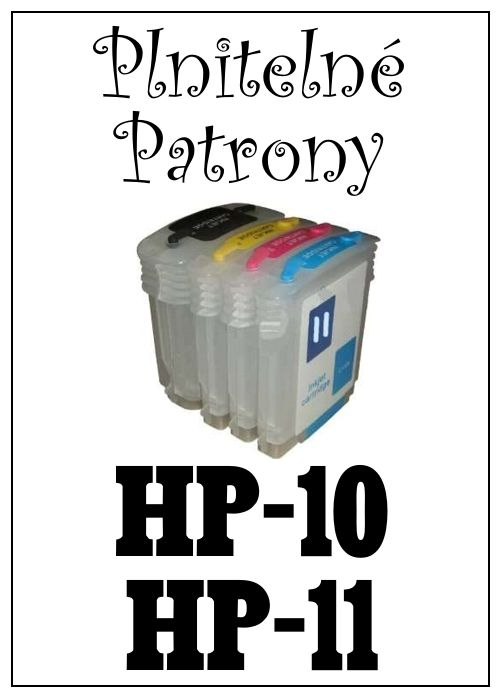 Inkoust do tiskárny HP-10 a HP-11 za bezva cenu 180 Kč  / 100 ml / 1 barva, plnitelné patrony za 350 Kč (sada 4 patron)