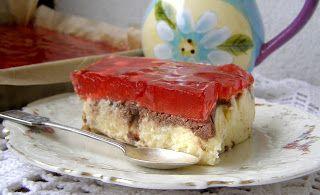 W Mojej Kuchni Lubię.. : limonkowy gotowany sernik z galaretką na herbatnik...