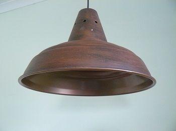 Ripple Industrial – Rust 445mm Diam x 320mm High E27 Lampholder Any Colour