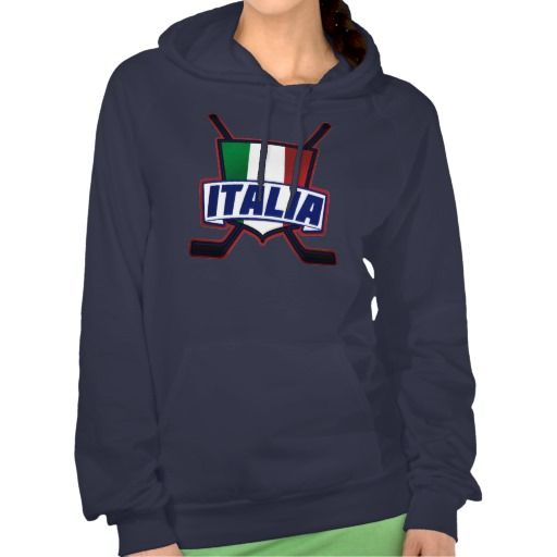 Italia Hockey su Ghiaccio Hoodie.  Warm and cosy American Apparel California Fleece hooded tops! For many more #hockey hoodies, please check out my store: http://www.zazzle.com/gamefacegear*/  #HockeysuGhiaccio