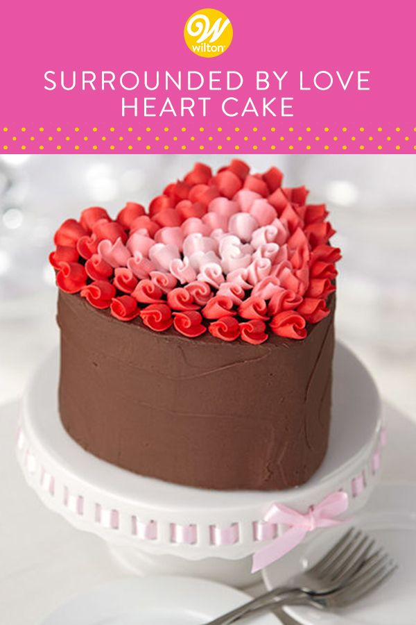 What Could Make A Heart Shaped Chocolate Buttercream Iced Cake