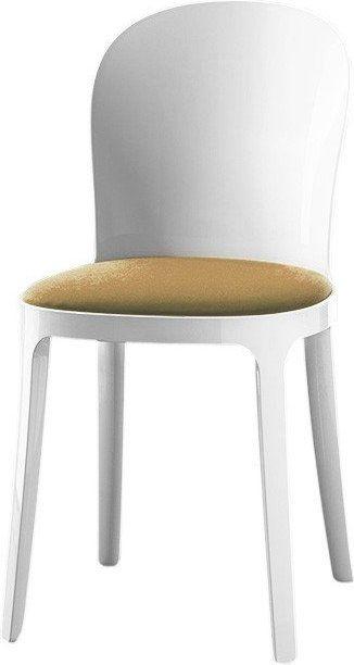 Groovy nowoczesne białe krzesła do kuchni | krzesła drewniane do jadalni RS86