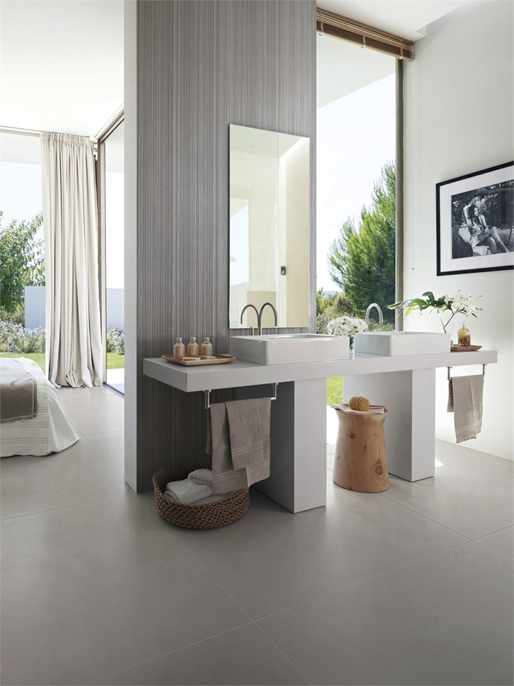 Porcelain stoneware wall/floor tiles WalLine by @Margres Ceramic Style #bathroom