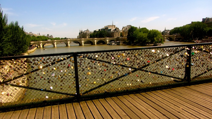 Love Padlock Bridge: Paris, France