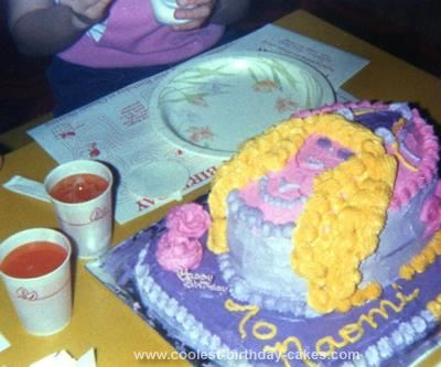 Homemade Goldilocks Birthday Cake:  Can also be made into an Elsa?