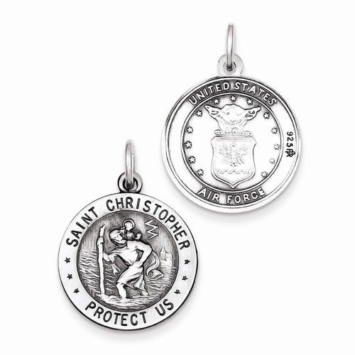 Sterling Silver St.Christopher US Air Force Medal