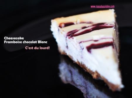 Cheesecake au coulis de framboise