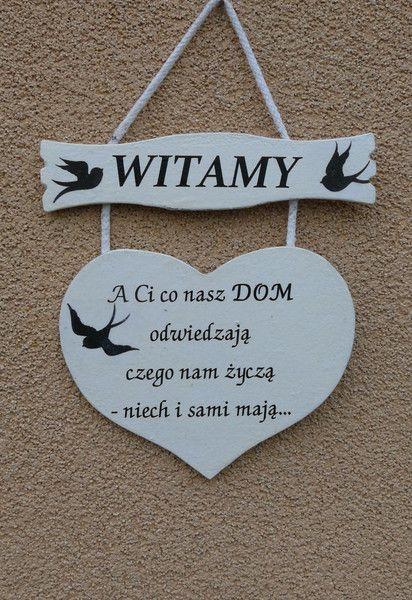 """Zawieszka   """"WITAMY"""" w Eski floreski na DaWanda.com"""