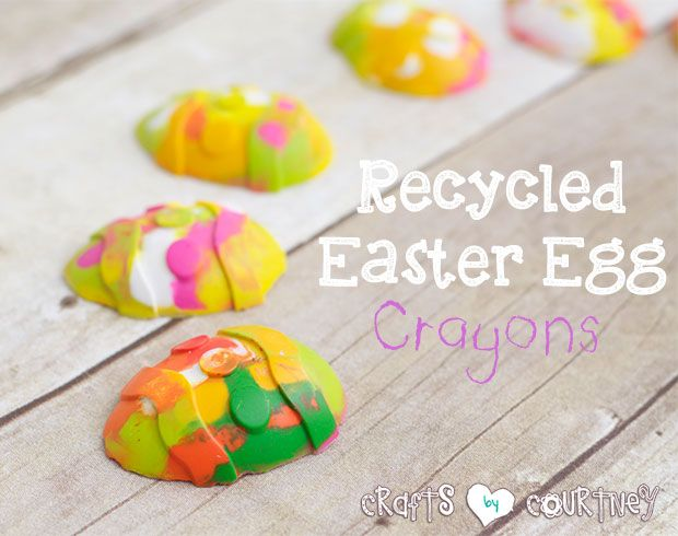 Easy DIY Easter Egg Crayons