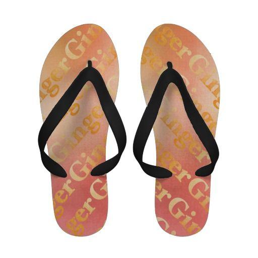 Ginger, w. text - Women´s Flip Flops