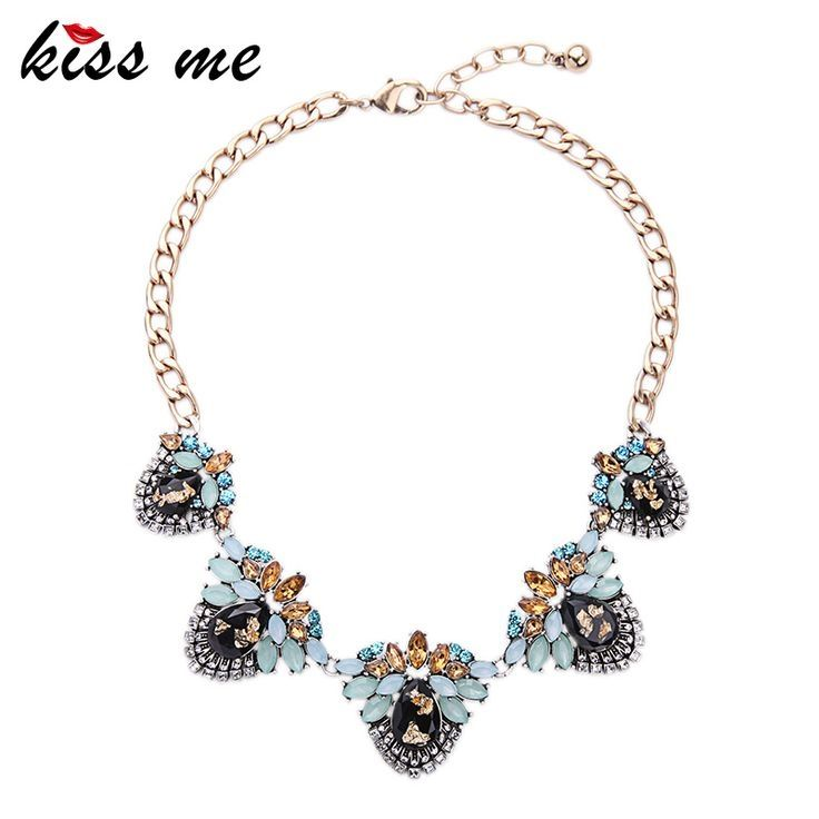 New Design Retro Alloy Geometric Large Statement Necklace Fashion Jewelry for Women Choker Necklace