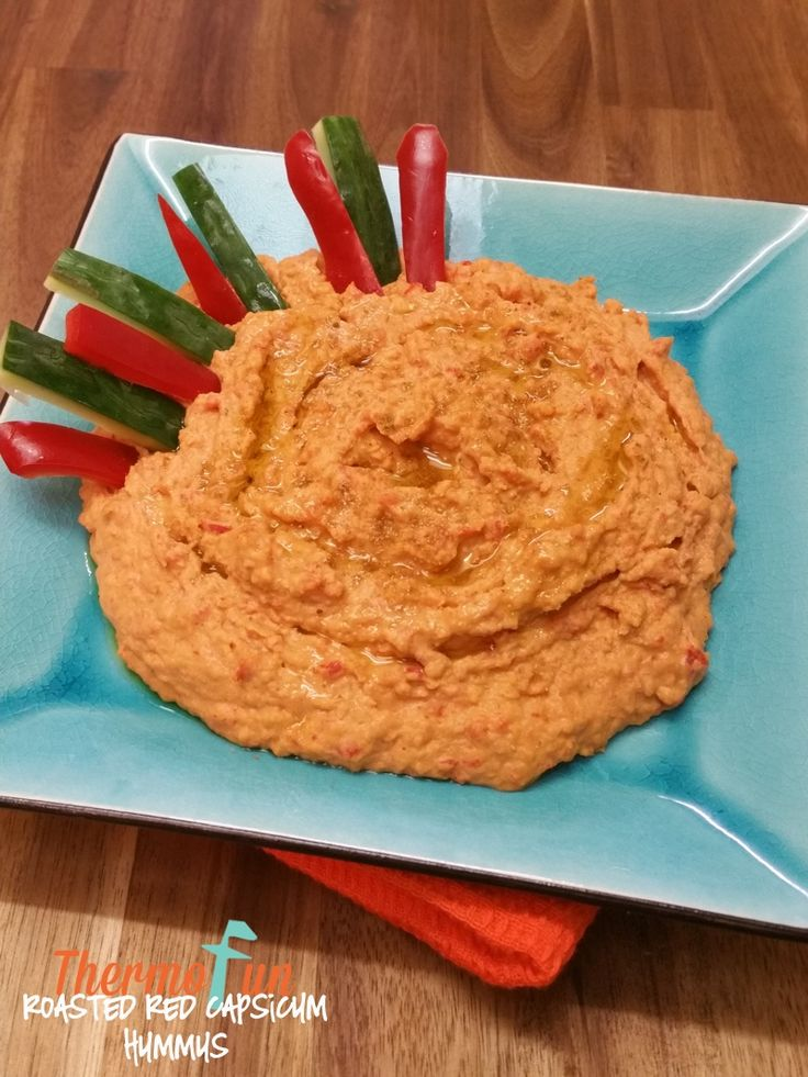 Thermomix Roasted Red Capsicum Hummus - ThermoFun | Thermomix Rec