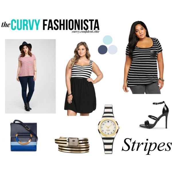 The Curvy Fashion Stripes by ve-ethnic-channel on Polyvore featuring Forever 21, Boohoo, Tory Burch, Kate Spade, Isabel Marant, contestentry and PVCurvyChic