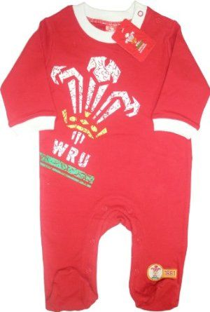 How cute! Welsh rugby outfit for babies :-)
