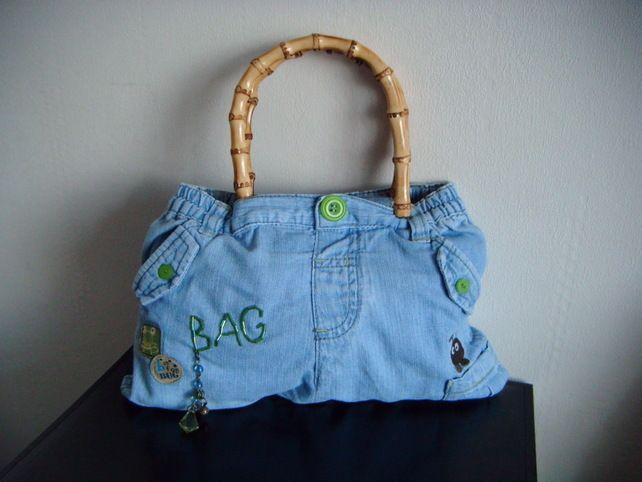 Handbag - up-cycled and designer -£25.00   'Baby's First Pair of Jeans - Handbag'