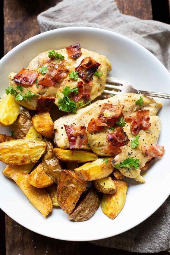 Cremiges Honig-Senf-Hähnchen mit Bacon – Celina Da Costa