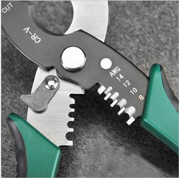 Material:Cromo vanádio Diâmetro Máximo Cabo para corte: 9-14mm Comprimento: 18,5 cm  Bitolas descascador: 1,6/2,0/2,6/4,0mm