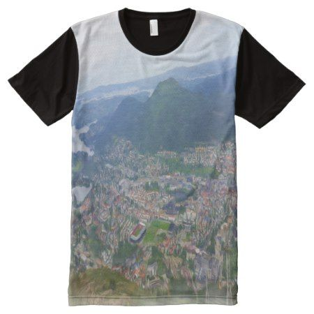 Photo of Bergen with oil paint effect All-Over-Print Shirt - click to get yours right now!