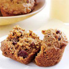 #Muffins au #son, aux #carottes et aux #raisins secs