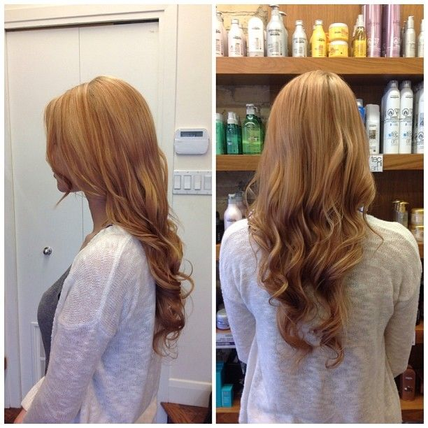Beautiful strawberry blonde look created by Salon Entrenous Stylist Cayla!