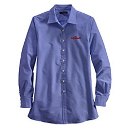 Maternity Long Sleeve Straight Collar Oxford Sport Shirt from Lands'End Business Outfitters