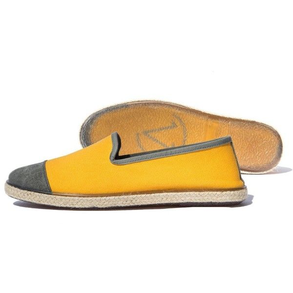 Angarde Cotton Espadrilles (€39) ❤ liked on Polyvore featuring shoes, sandals, yellow, espadrille shoes, yellow espadrilles, urban footwear, shock absorbing shoes and woven shoes