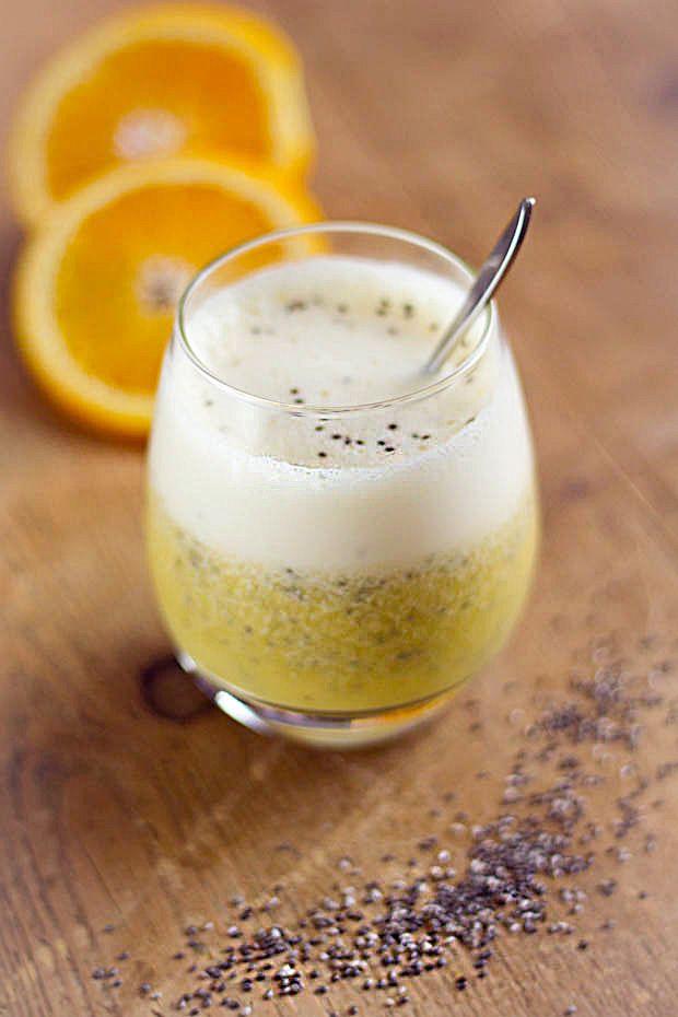 Sinaasappel #smoothie met #chiazaad - Freshmix