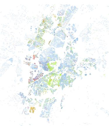 Census dotmap. USA. Methodology - http://www.coopercenter.org/demographics/Racial-Dot-Map