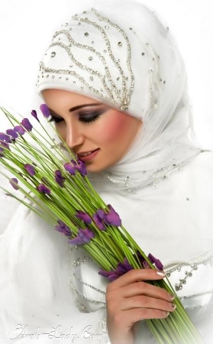 لفات طرح وميك اب للعرائس المحجبات : مجلة المرأة العربية