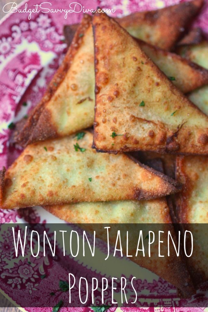 Jalapeno Poppers!!! These babies are SO good - very easy to make and tastes just like jalapeno poppers - done in under 20 minutes - perfect snack - Wonton Jalapeno Poppers Recipe